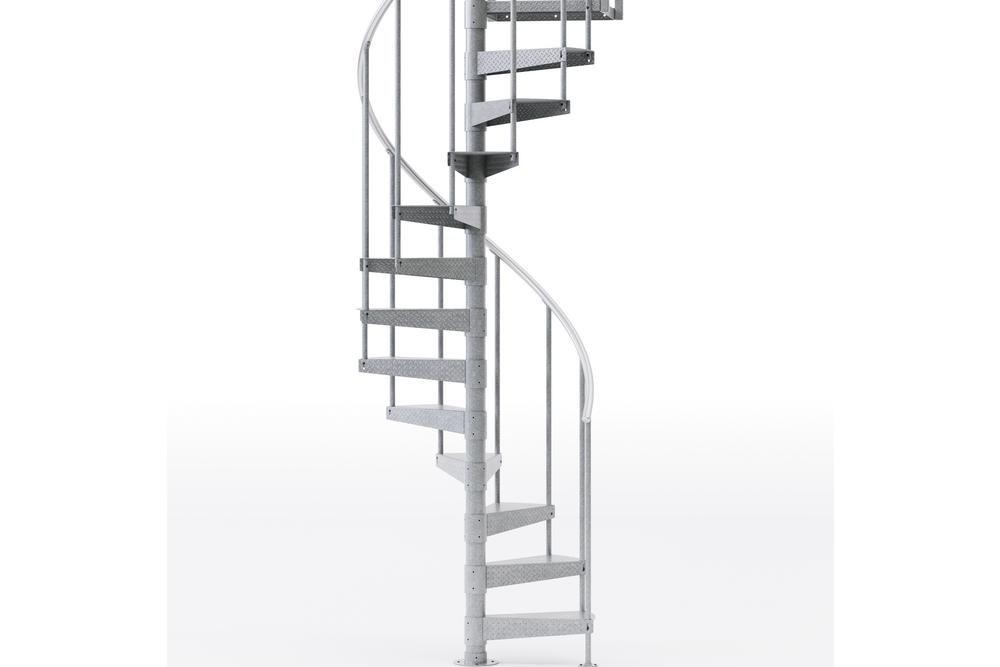 Mylen Stairs Reroute Galvanized Exterior Or Interior 42 Diameter   Outdoor Spiral Staircase Home Depot   Stair Parts   Stair Case   Steel Spiral   Stair Kit   Handrail
