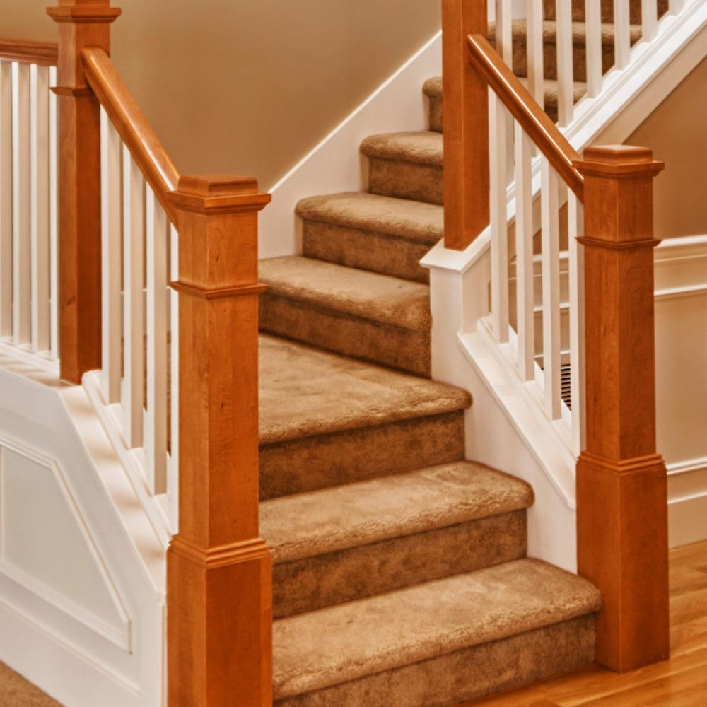Stair Parts 6010 1 Ft Unfinished Poplar Plowed Stair Handrail   Home Depot Stair Handrail   Aluminum Stair   Wood   Balusters   Porch Railings   Oak Stair