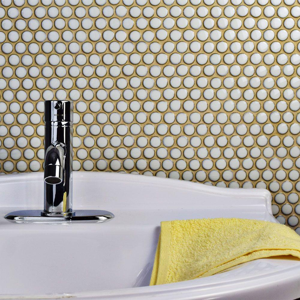 x 12 625 10 piece silk white brown tile