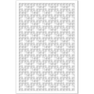 Acurio Latticeworks 14 In X 32 In X 4 Ft White Chinese Style 1 Vinyl Decor Panel 3248PVCW
