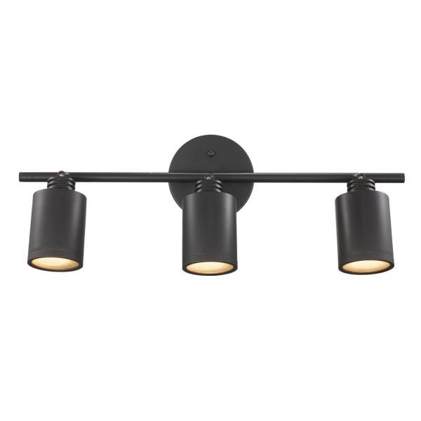 Hampton Bay 4-Light Bronze LED Dimmable Fixed Track ...