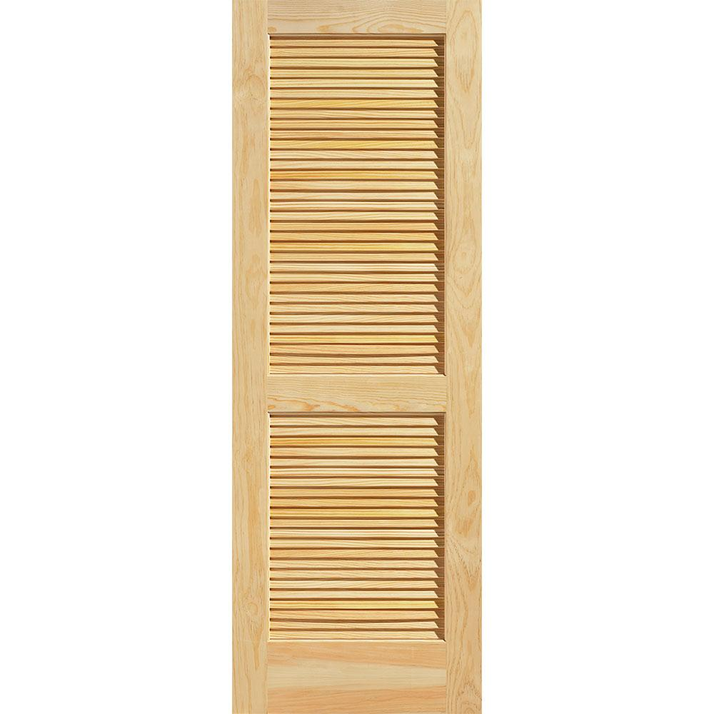 masonite 28 in x 80 in smooth louvered solid Masonite 32 In X 80 In Plantation Smooth Louver id=89432