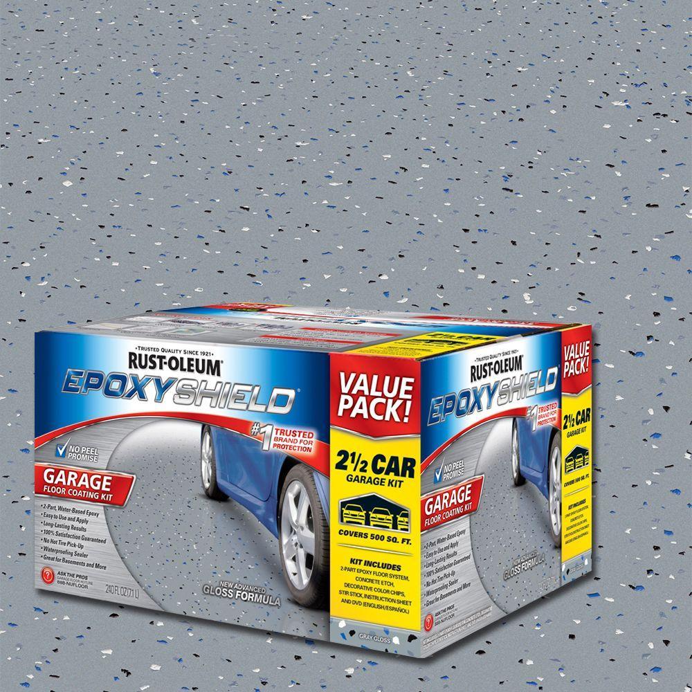 Epoxy Gloss Shield Coating Floor High Gray Kit Oleum 2 Rust 2 Epoxy Part Garage Gal