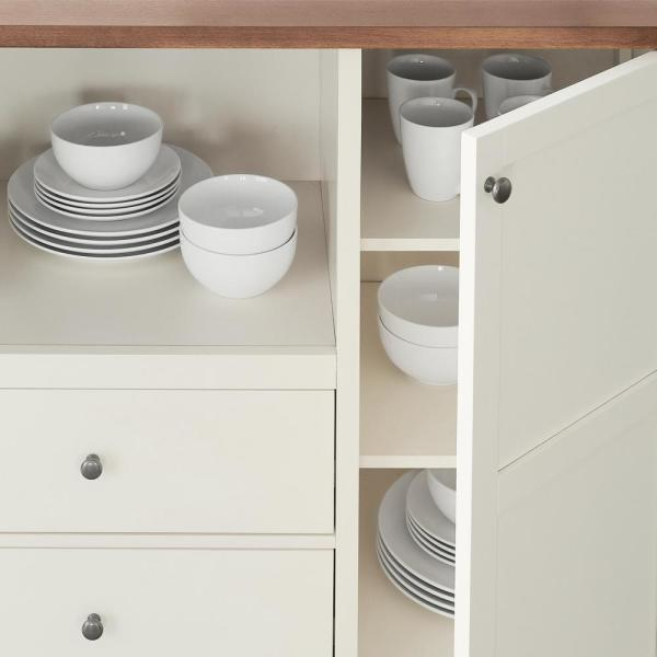 Stylewell Stylewell Ivory Wood Transitional Kitchen Pantry 42 In W X 36 In H Sk19312ar1 V The Home Depot