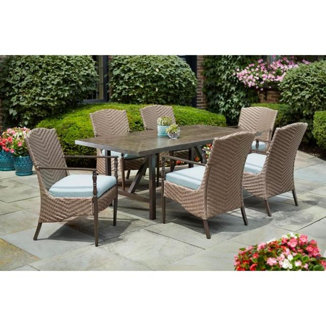 home decorators collection bolingbrook 7-piece wicker outdoor patio