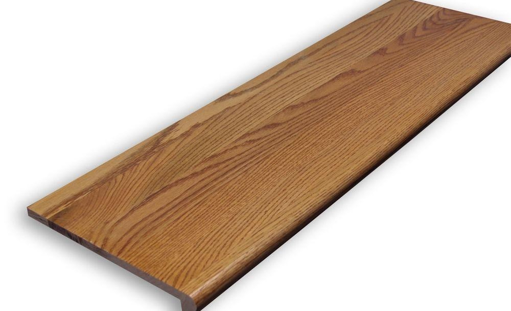 Stairtek 625 In X 11 5 In X 36 In Prefinished Gunstock Red   Pre Stained Stair Treads   Stain Wood   Luxury   Natural Wood   Step   Gray Wood