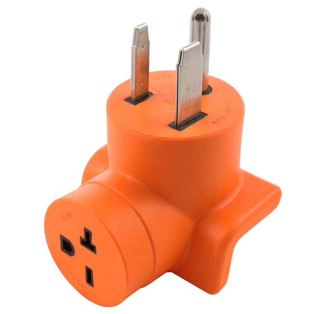 Ac Works 50 Amp 3 Prong 6 50p Welder Plug To 6 20r 20 Amp