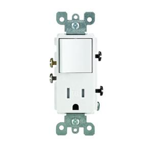 Leviton Decora 15 Amp Tamper Resistant Combo Switch and
