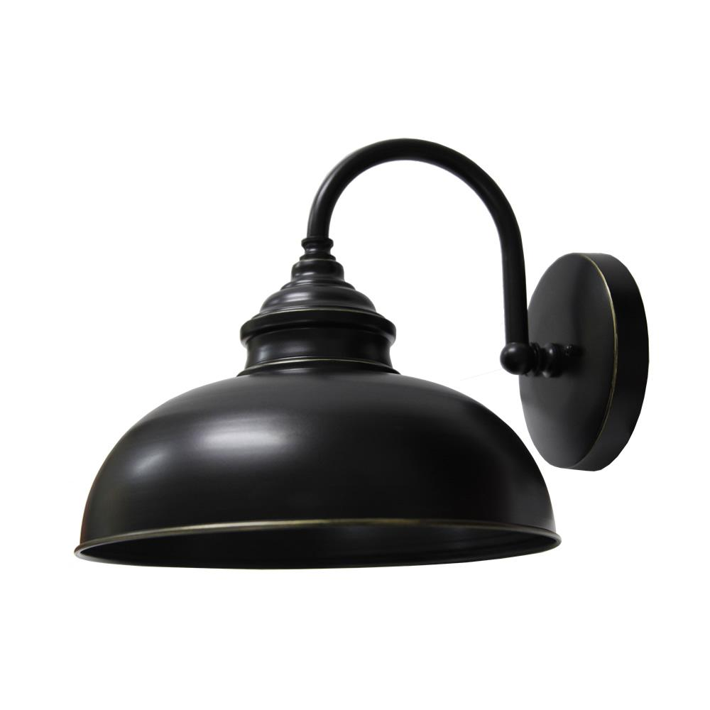 Y Decor 1-Light Imperial Black Outdoor Wall Mount Sconce ... on Wall Sconce Lighting Decor id=41490