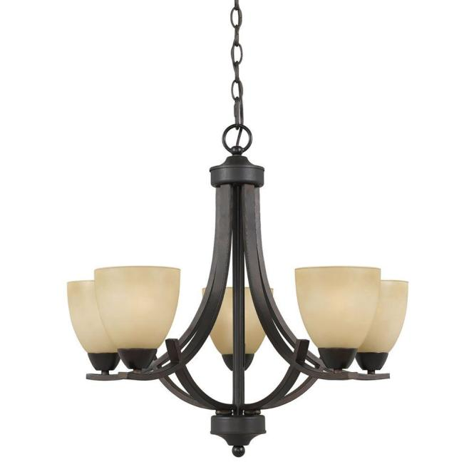 Filament Design Galeri 5 Light Bronze Chandelier 8000 03 05 The Home Depot