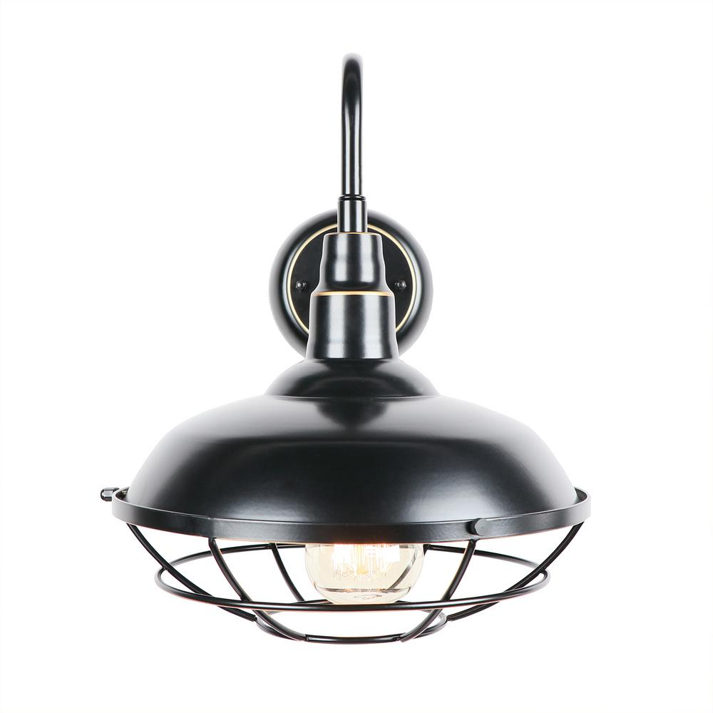 Y Decor Small 1-Light Imperial Black Outdoor Wall Lighting ... on Small Wall Sconce Light id=78122