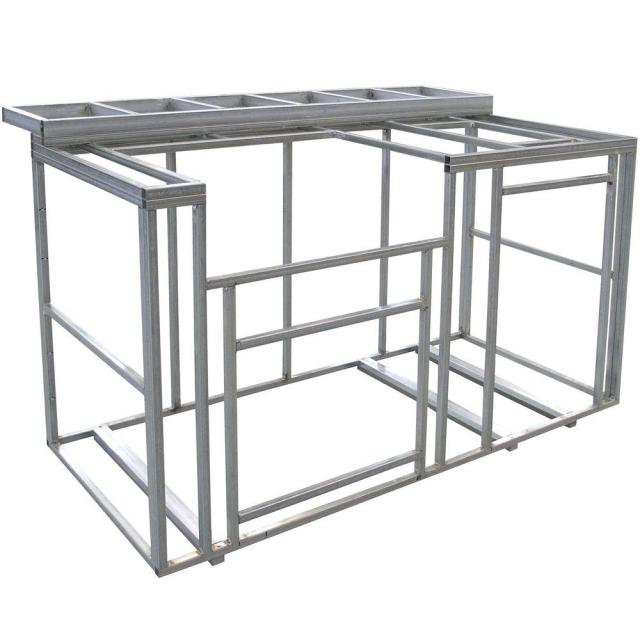 cal flame 6 ft. outdoor kitchen island frame kit with bartop-kd