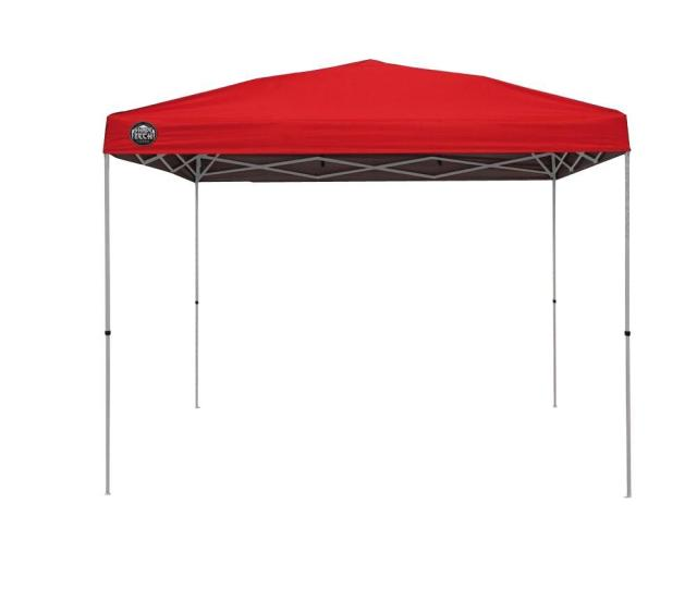 Shade Tech St  Ft X  Ft Instant Patio Canopy In Red