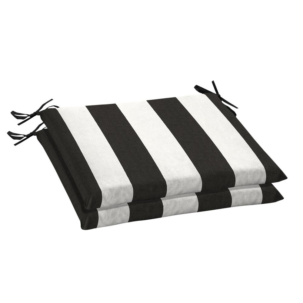 home decorators collection 20 x 18 sunbrella cabana on Black And White Striped Outdoor Seat Cushions id=35299