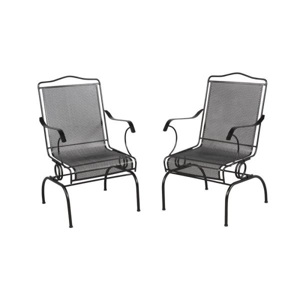 Wrought Iron   Metal Patio Furniture   Patio Furniture   Outdoors     Jackson Action Patio Chairs  2 Pack