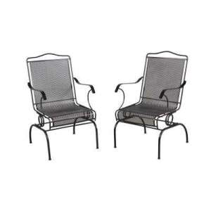 Wrought Iron   Patio Chairs   Patio Furniture   The Home Depot Jackson Action Patio Chairs  2 Pack
