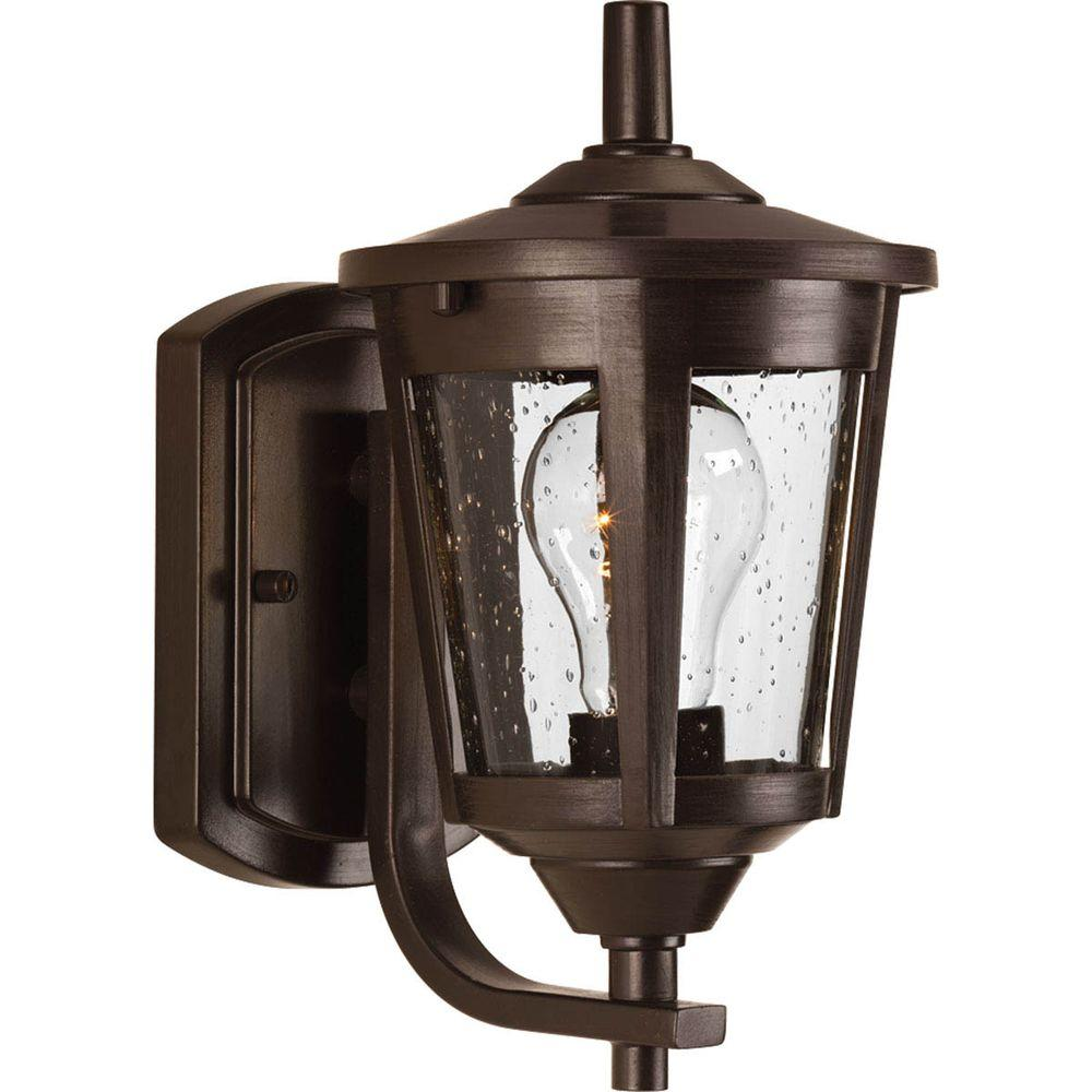 Progress Lighting East Haven 1-Light Antique Bronze 10.4 ... on Sconce Outdoor Lighting id=24745