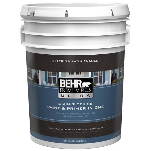 Ultra Pure White Satin Enamel Exterior Paint