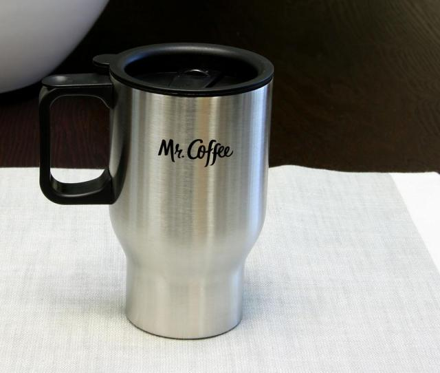 Mr Coffee Expressway 15 Oz Stainless Steel Double Wall Travel Mug 98586627m The Home Depot