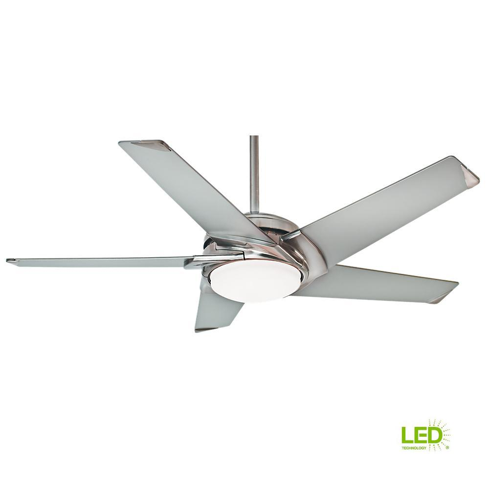 Casablanca Stealth 54 In Led Indoor Brushed Nickel Ceiling Fan With Light Kit And Universal