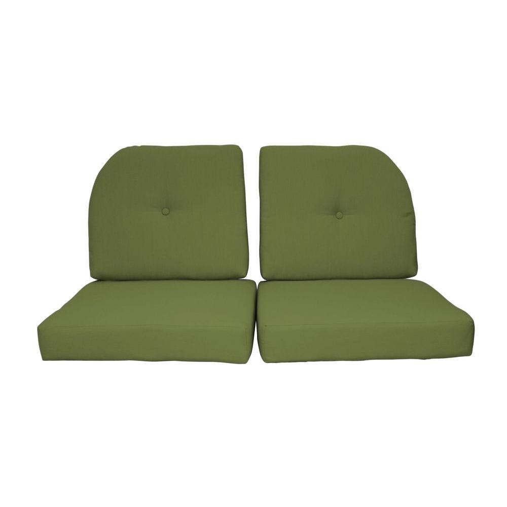 Paradise Cushions Sunbrella Kiwi 4-Piece Outdoor Loveseat ... on Outdoor Loveseat Sets  id=60998