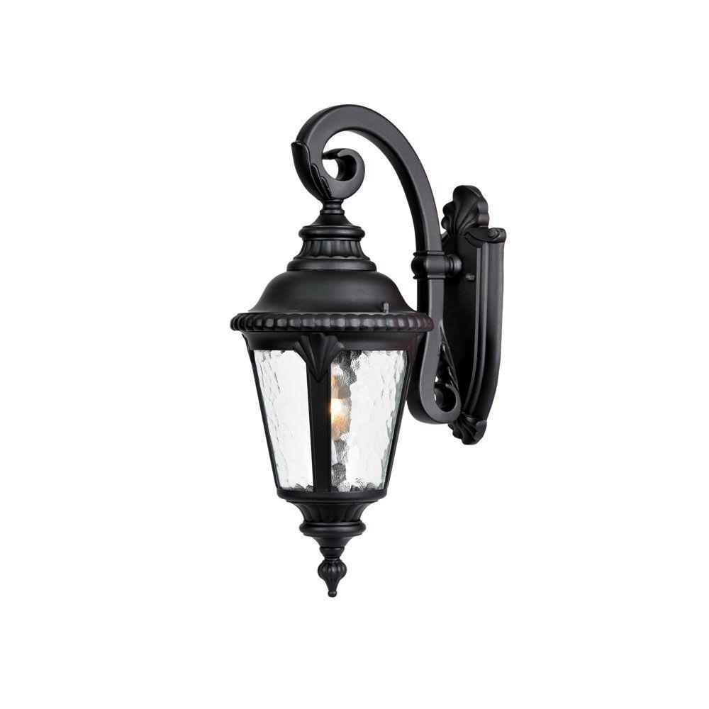 Acclaim Lighting Surrey Collection 1-Light Matte Black ... on Outdoor Lighting Fixtures Wall Mounted id=33570