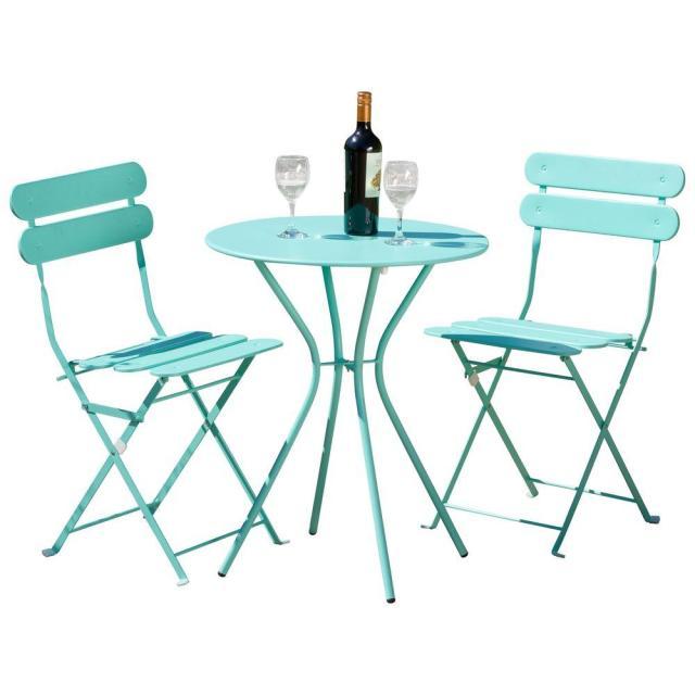 rst brands sol blue 3-piece patio bistro set-op-bs3-sol-bl - the
