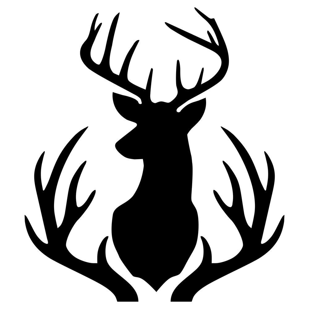 Buck deer head outline