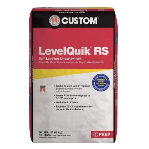 Custom Building Products LevelQuik RS 50 lb  Self Leveling     Custom Building Products LevelQuik RS 50 lb  Self Leveling  Underlayment LQ50   The Home Depot