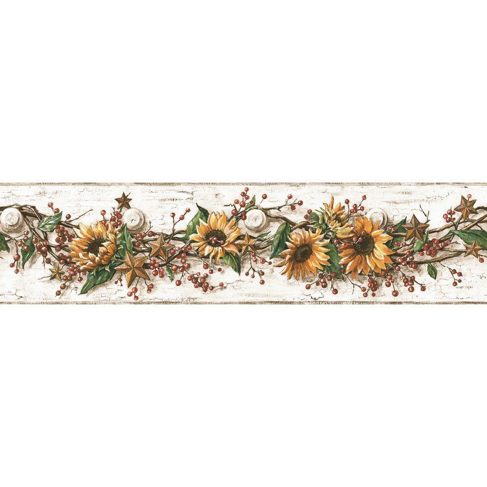 York Wallcoverings Sunflower Wallpaper Border CB5516BD