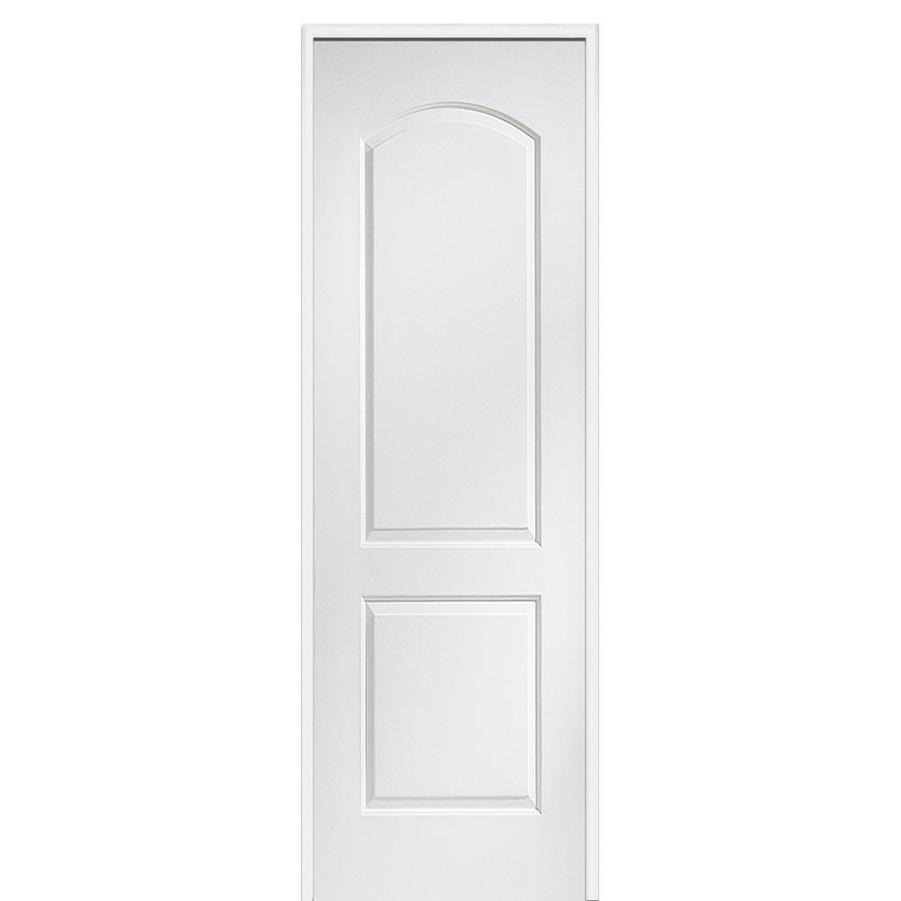 mmi door 36 in x 96 in smooth carrara right solid 36 In X 96 In Composite White Interior Bi Fold Door id=23585