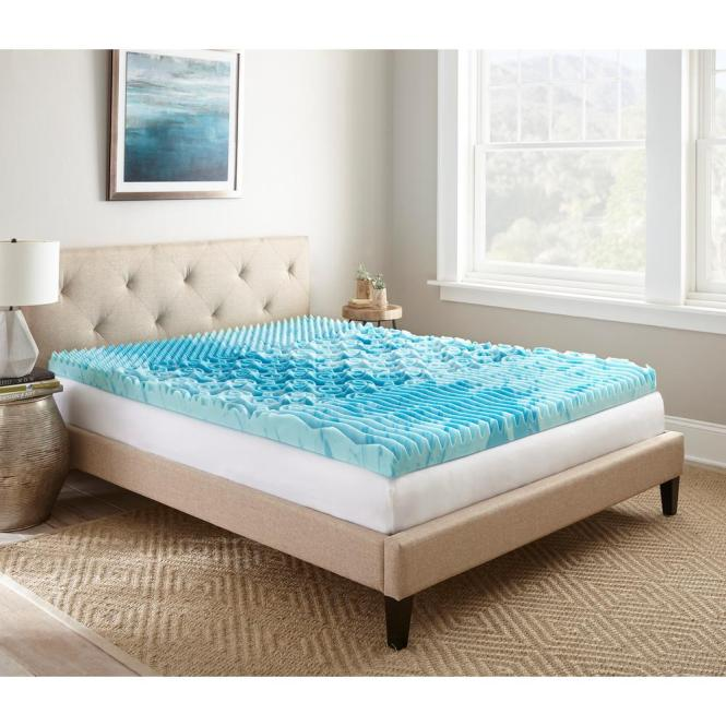 Twin Gellux Gel Memory Foam Mattress Topper