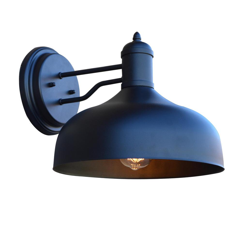 Y Decor 1-Light Sandy Black Outdoor Wall Mount Sconce ... on Sconce Outdoor Lighting id=50035