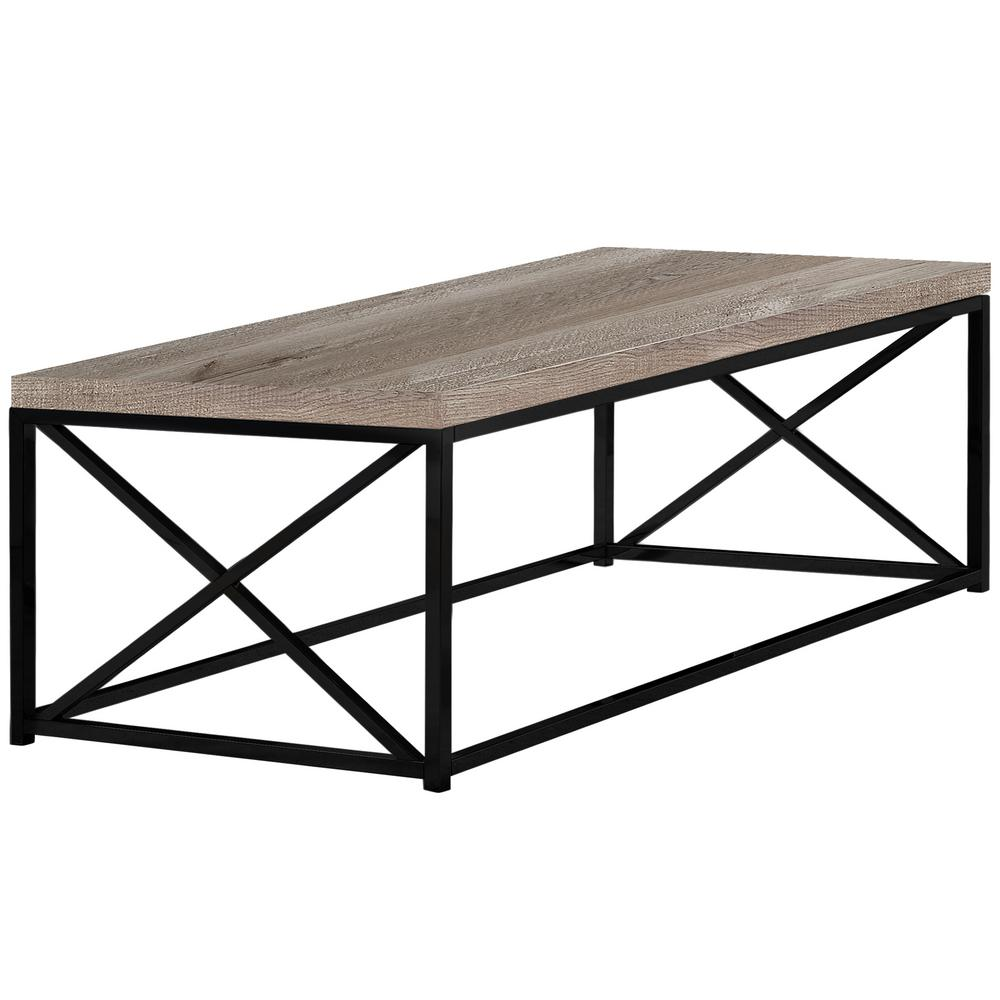 unbranded taupe reclaimed wood coffee table hd3418 the home depot