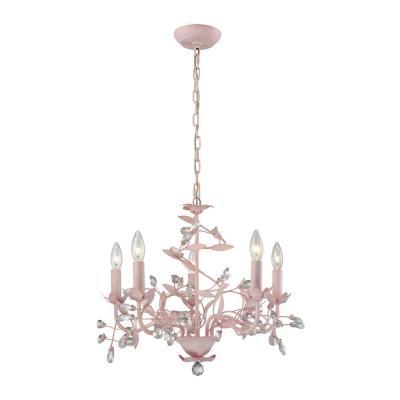 Circeo 5 Light Pink Chandelier An Lighting