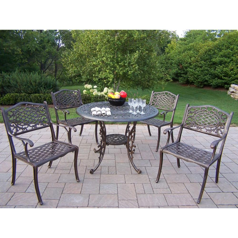 Oakland Living Mississippi Patio 5-Piece Dining Set-2011 ... on Ab And Outdoor Living  id=14978