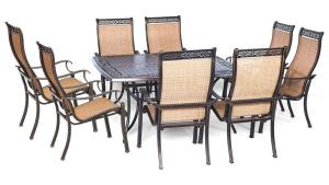 Hanover Manor 9 Piece Square Patio Dining Set MANDN9PCSQ