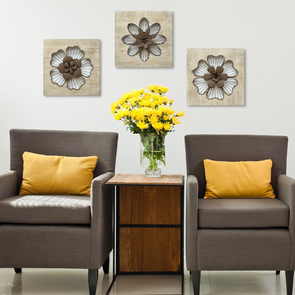 Stratton Home Decor Rustic Flower Wall Decor-SHD0189 - The ... on Wall Decoration  id=56540
