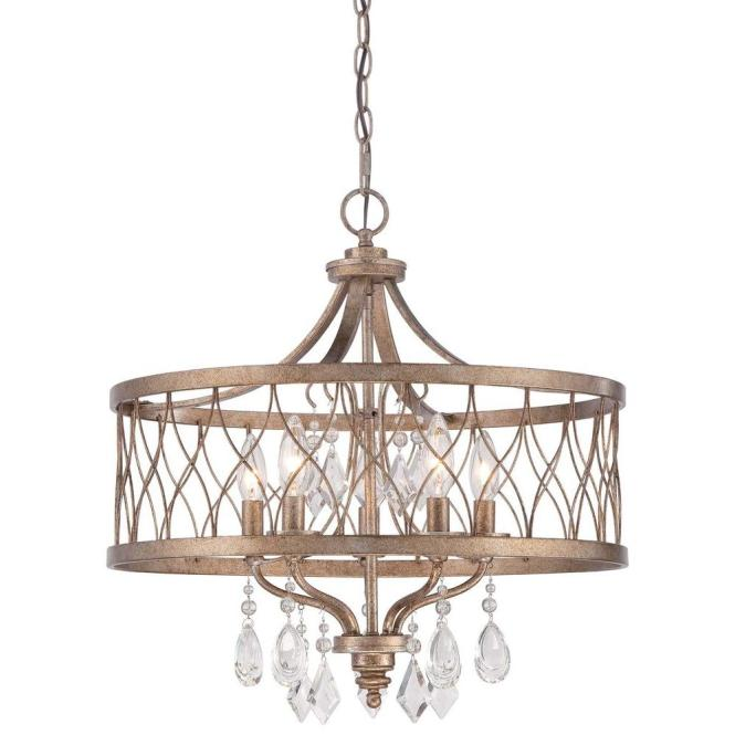 Minka Lavery West Liberty 5 Light Olympus Gold Chandelier 4404 581 The Home Depot