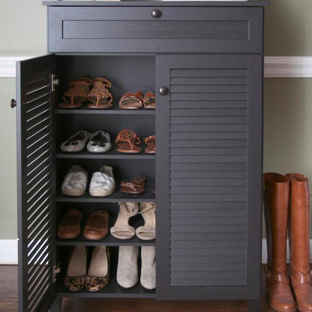 wooden shoe rack home depot