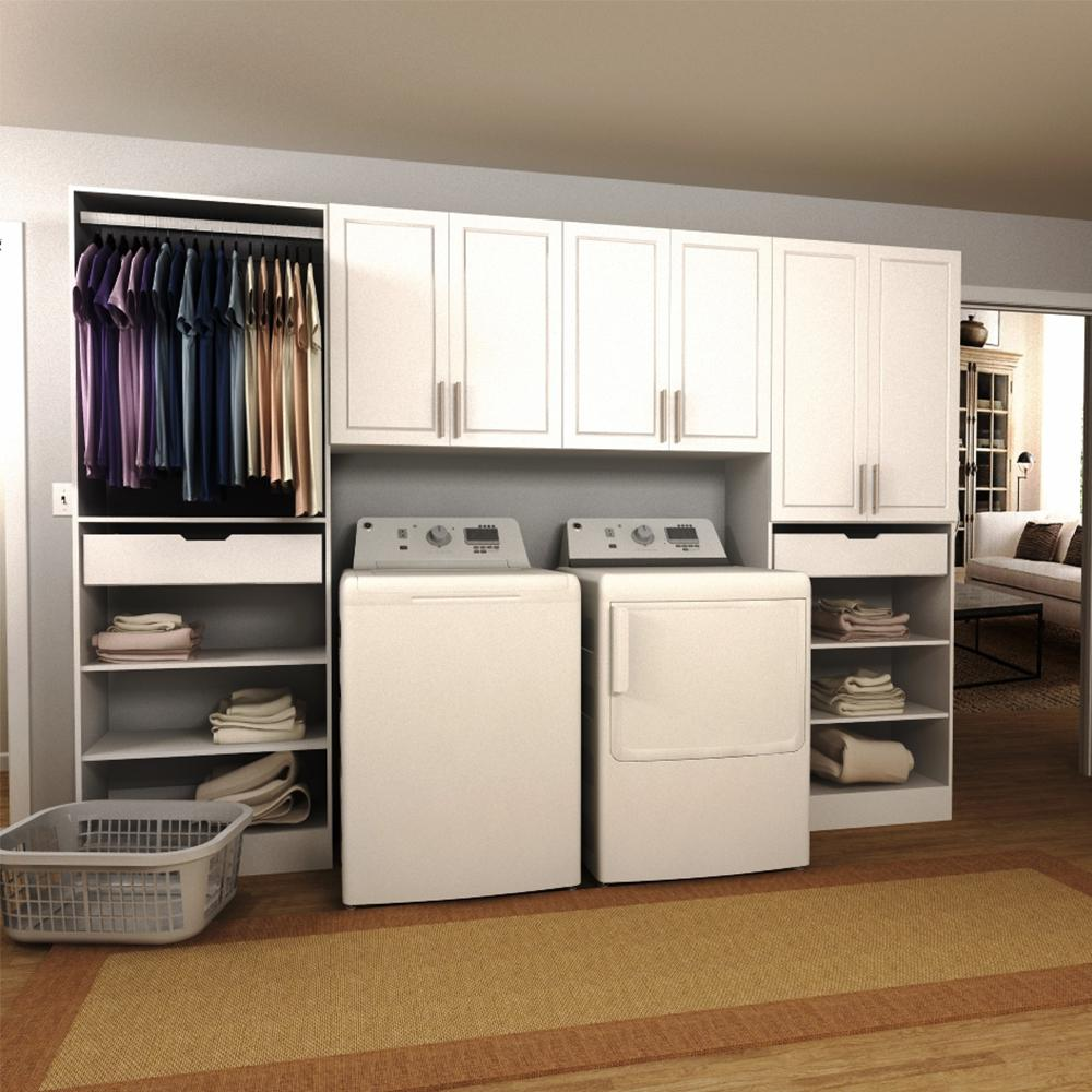 Modifi Madison 120 in. W White Tower Storage Laundry ... on Laundry Cabinets  id=35912