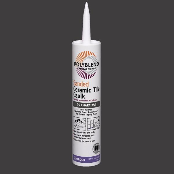 Custom Building Products Polyblend  60 Charcoal 10 5 oz  Sanded     Custom Building Products Polyblend  60 Charcoal 10 5 oz  Sanded Ceramic Tile  Caulk