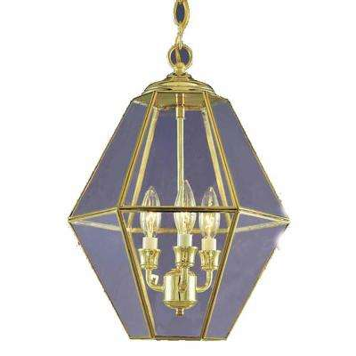 Lenor 3 Light Polish Brass Incandescent Ceiling Chandelier