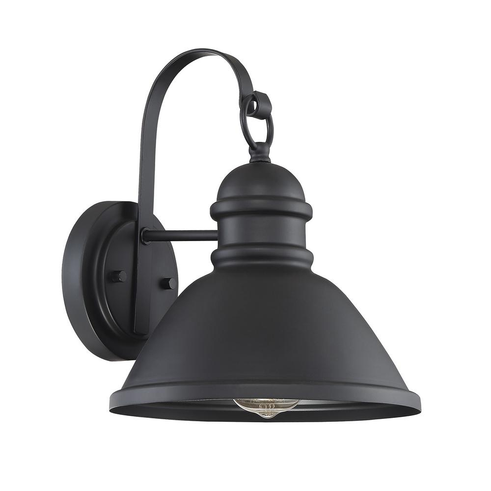 Filament Design Small 1-Light Matte Black Outdoor Wall ... on Small Wall Sconce Light id=90494