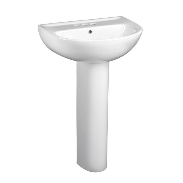 american standard evolution pedestal combo bathroom sink with 4 in