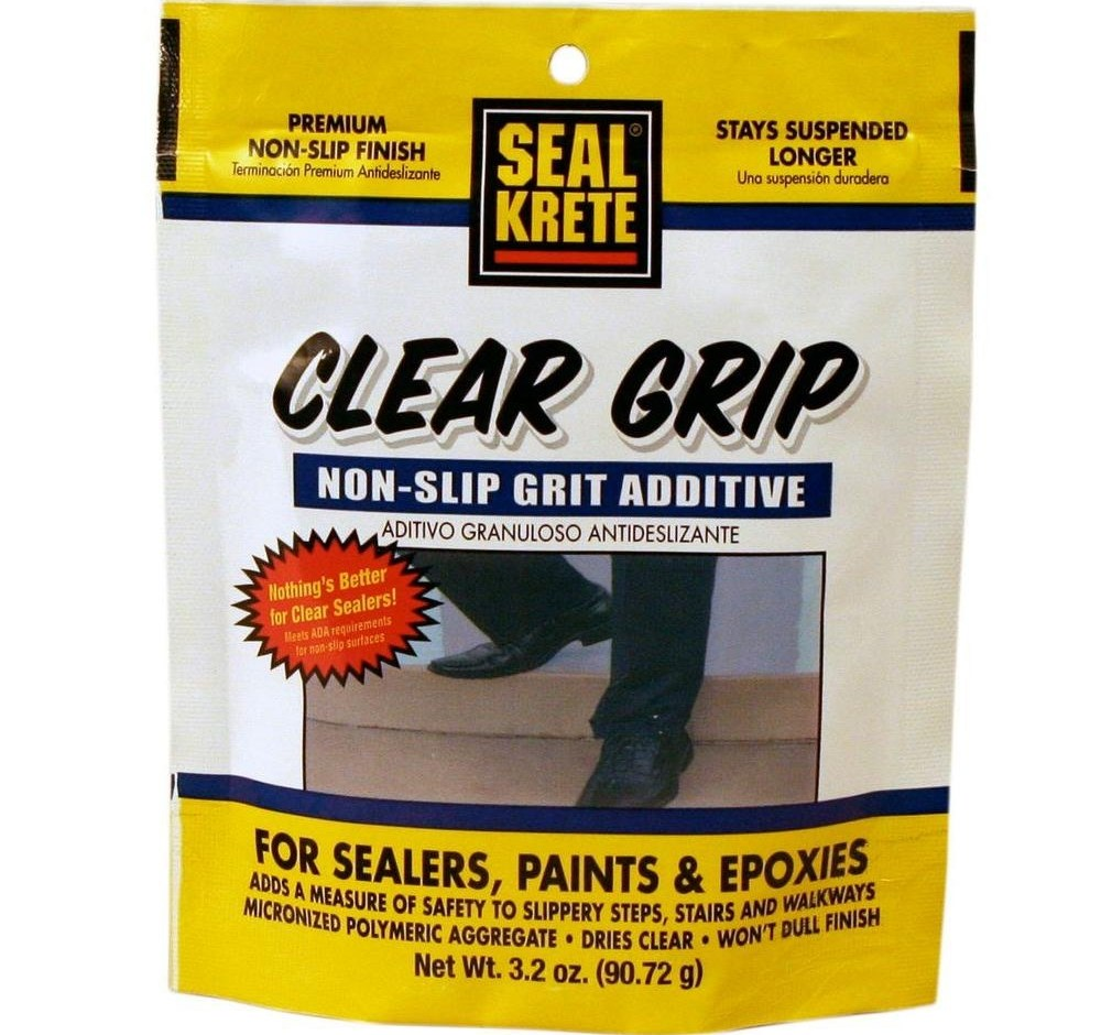 Seal Krete 3 2 Oz Clear Grip Anti Skid Additive 402002 The   Slippery Wood Stairs Outdoor   Composite Decking   Non Slip Stair Tread   Porch   Hardwood   Prevent Slips