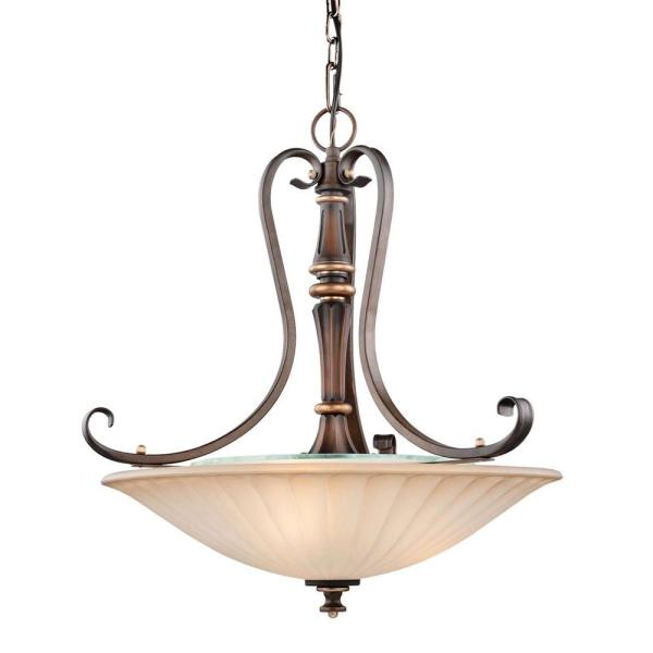 Hampton Bay Reims 3 Light Antique Bronze Pendant 17262   The Home Depot Hampton Bay Reims 3 Light Antique Bronze Pendant