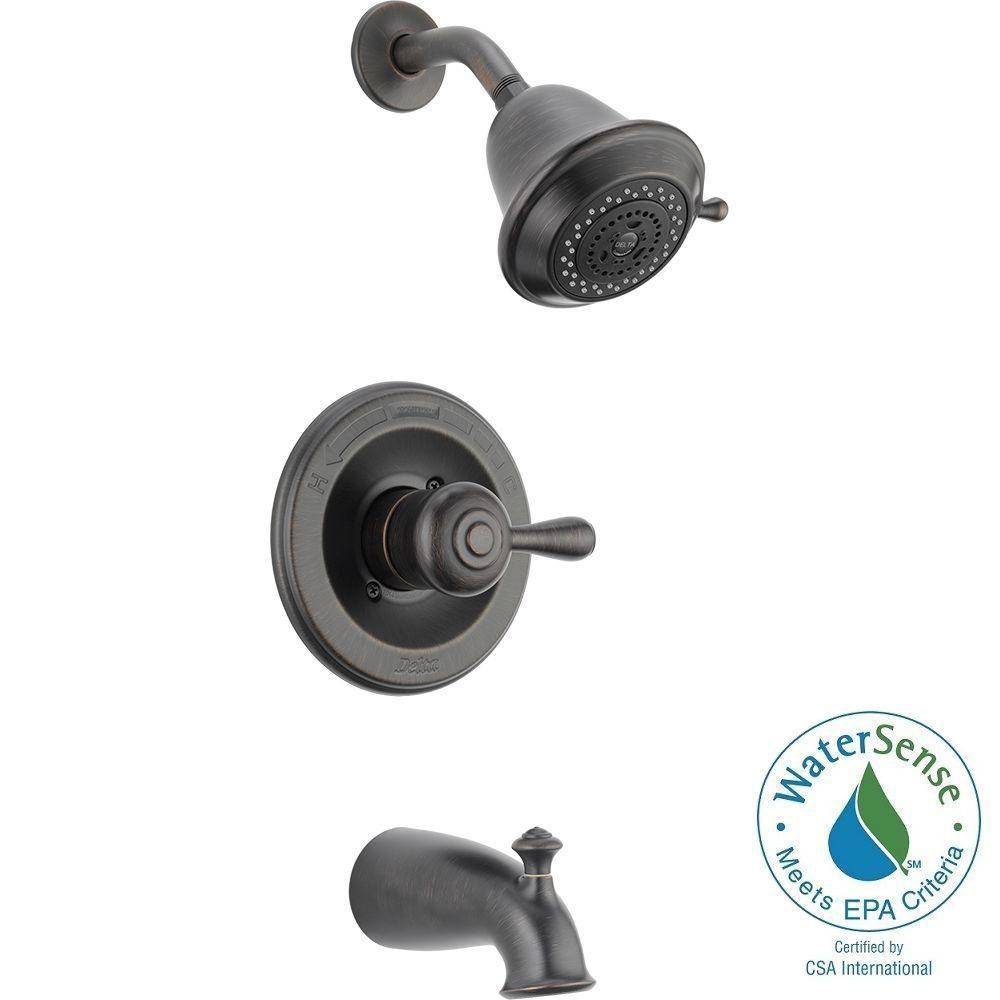 Delta Leland 1 Handle 3 Spray Tub And Shower Faucet Trim
