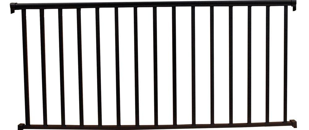 Ez Handrail 6 Ft X 36 In Textured Black Aluminum Baluster   Home Depot Metal Balusters   Cedar   Rubbed Bronze   Wrought Iron Balusters   Staircase   Spindles