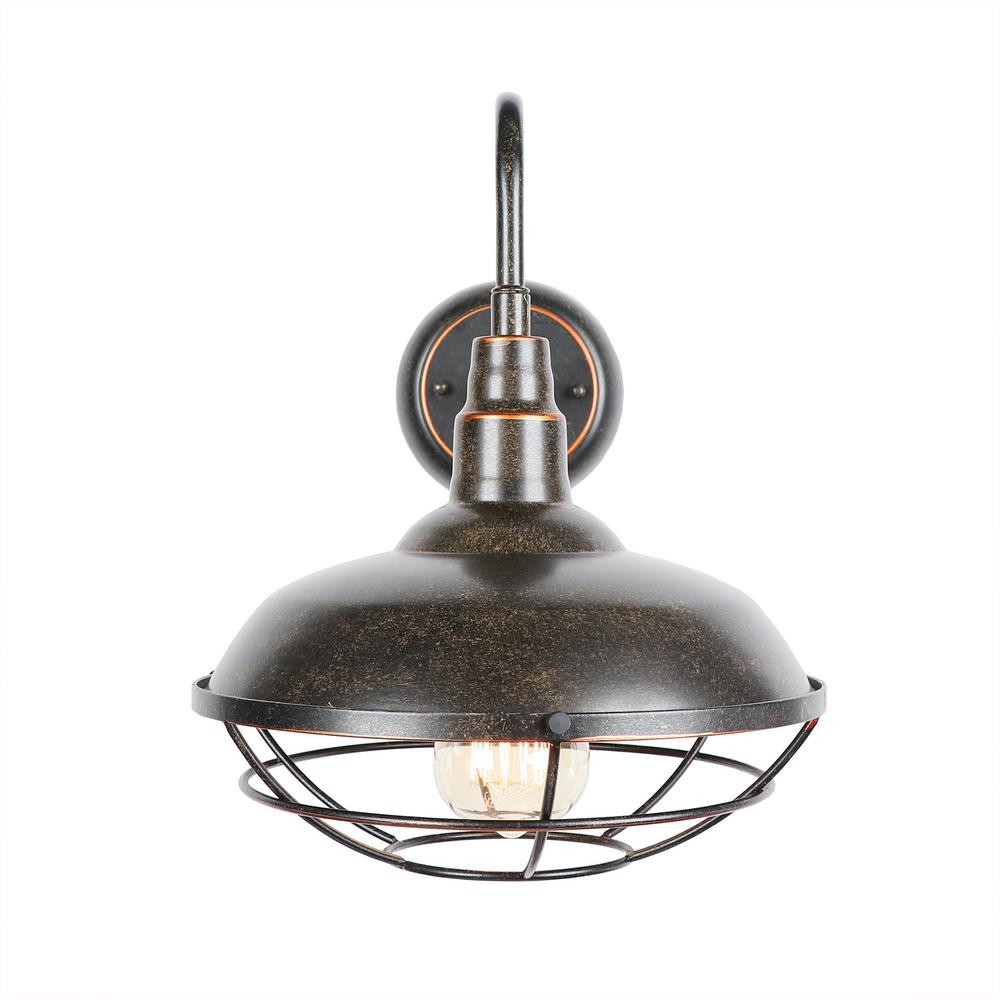 Y Decor 1-Light Oil Rubbed Bronze Outdoor Wall Lighting ... on Wall Sconce Lighting Decor id=96659
